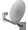 satellite dish isolated on white vector image vector image