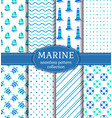 sea and nautical seamless patterns set vector image vector image