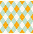 Seamless argyle pattern Diamond shapes background vector image vector image