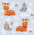 seamless cute deer vector image vector image
