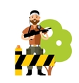 Security Post Flat style colorful Cartoon vector image