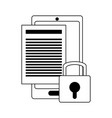 security system technology in black and white vector image vector image