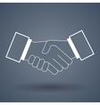 Shake hand line icon vector image