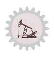 Silhouette of an oil pump gear vector image vector image