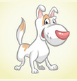 smiling brown bull terrier dog vector image vector image