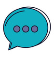 speech bubble message icon vector image