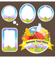 stickers and labels with landscape farmland vector image