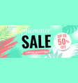 summer sale poster with text and sun vector image vector image