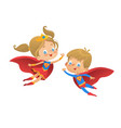superhero kids cartoon super vector image vector image