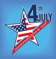 symbol of july 4 independence day vector image vector image