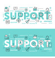 thin line abstract web design for call center vector image