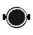 top view of a barbecue grill vector image vector image