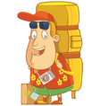 tourist backpack vector image