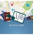 Travel and adventure template vector image vector image