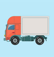 truck delivery isolated on vector image vector image