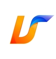 U letter blue and Orange logo design Fast speed vector image vector image