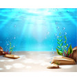 underwater life sea bottom scene background vector image