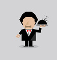 Waiter Serving Food vector image vector image