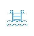 water pool linear icon concept water pool line vector image vector image
