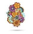 Henna Paisley Mehndi Floral Element vector image