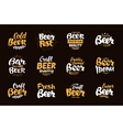 Beer Label and Logos Lettering vector image