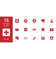 15 plus icons vector image vector image