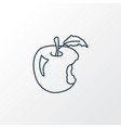 apple icon line symbol premium quality isolated vector image vector image