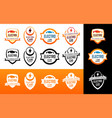 badge and logos for electro car charging service vector image vector image