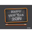 Blackboard Happy New Year vector image vector image