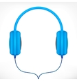 Blue headphones vector image vector image
