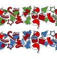 border with traditional christmas symbols vector image vector image
