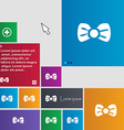 Bow tie icon sign buttons Modern interface website vector image vector image