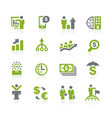 business and finance icons natura series vector image vector image