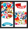 Carnival show and party banners with celebration vector image vector image