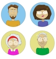 Cartoon user profile picture icon set vector image