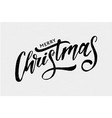 christmas lettering calligraphy brush text vector image