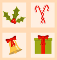 Colorful set of christmas icons vector image