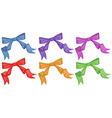 Colourful bows vector image