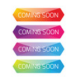 coming soon button set vector image vector image