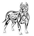 dog shape tattoo vector image vector image
