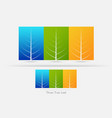 eco friendly three tree leaf concept vector image