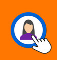 female figure icon woman avatar concept hand vector image vector image