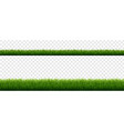 green grass border with isolated transparent vector image vector image