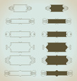 Hand-drawn vintage design elements set vector image vector image