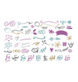 handdrawn doodles vector image