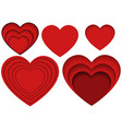 heart shapes for apps and websites or vector image vector image
