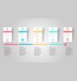 horizontal timeline infographic element background vector image