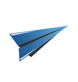 icon airplane wing in negative space travel vector image
