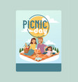 invitation to a picnic day family event vector image vector image