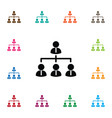 isolated team icon corporate element can vector image vector image